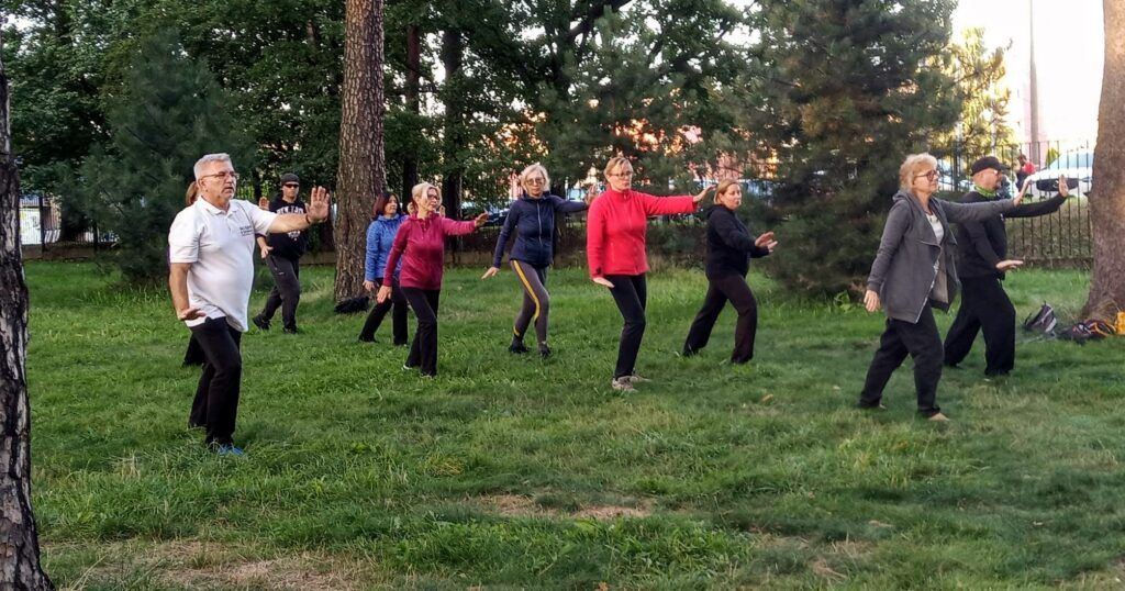 Trening Tai Chi w Paprocanach